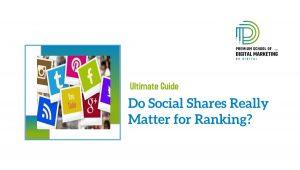 Do Social Shares Really Matter for Ranking?